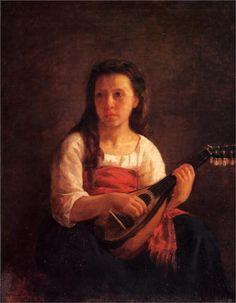 The Mandolin Player, 1872  Mary Cassatt