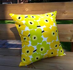 Pillow cover made from Marimekko fabric, pillow sham, throw pillow cover, cushion cover, envelope pillow, Scandinavian pillow, Unikko by NordicCrafter on Etsy https://www.etsy.com/listing/202280148/pillow-cover-made-from-marimekko-fabric