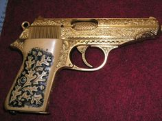 Walther PP Engraved GOLD PLATED Find our speedloader now! http://www.amazon.com/shops/raeind