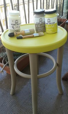 Painted with FolkArt Home Decor Savannah and Yellow Crochet paints.
