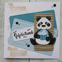 Scrapbook Sketches, Scrapbook Albums, Marianne Design Cards, Love Cards, Card Tags, Kids Cards, Creative Cards, Panda Bear, Cardmaking