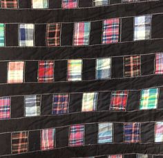 Vtg Patchwork Madras Plaid Cotton Fabric Folk Primitive Crafts Quilting 10 yds +