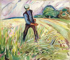O Apanhador de Centeio - The Haymaker  Munch, Edvard    (1917)    The Munch Museum | Oslo - Noruega    Dimensões da obra: 130 × 150 cm