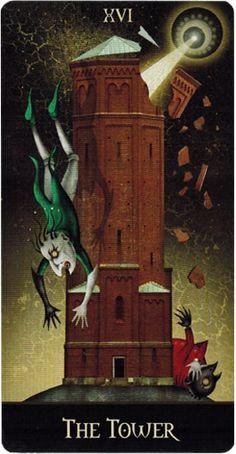 Deviant Moon Tarot: A Torre The Tower Tarot Card, Celtic Cross Tarot, Moon Deck, Medieval, Tarot Card Spreads, Online Tarot, Tarot Major Arcana, Tarot Card Meanings, Oracle Cards