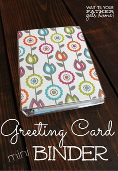 Greeting card organizer using a mini binder fully stocked with greeting card organizer using a mini binder fully stocked with hallmark value cards they run at 47 and 97 cents a piece organize it oh ya pinterest m4hsunfo