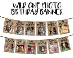 Boys First Birthday Party Ideas, Wild One Birthday Party, 1st Birthday Banners, Baby 1st Birthday, Boy Birthday Parties, One Year Birthday, Farm Birthday, 1st Birthday Boy Themes, 1st Birthday Photos
