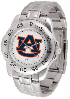 Auburn Tigers Men Or Ladies Sport Steel Watch