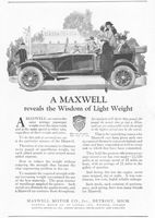 Maxwell Wisdom of Light Weight 1920 Ad Picture