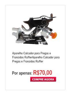 Aparelho Calcador para Pregas e Franzidos Ruffler - RFF L1 - 188003