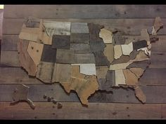 This a quick tutorial video on how to make your own patriotic Wall decoration. Its a wood wall map of the United States of America. Its made from pallet wood. Hope you enjoy the video. Diy, Decor,