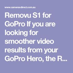 Removu S1 for GoPro If you are looking for smoother video results from your GoPro Hero, the Removu S1 for GoPro is one of the options. The Removu S1 for GoPro is compatible with GoPro HERO5, 4, 3, 3+ and Session, (note that the Karma Grip is not). When you buy the Removu S1 for GoPro, it comes in a case with a pile of accessories including a counter weight, the battery for the Removu S1 for GoPro, the battery charger and so on.  The hand grip has a detachable remote controller which is handy…