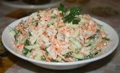 """Замечательный салат! На всех праздниках уходит """"на ура""""!   Шедевры кулинарии"""