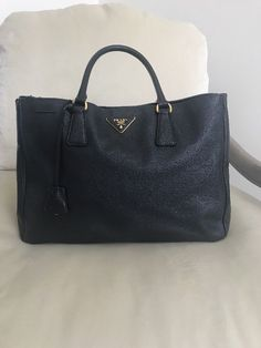 Prada Saffiano Tote Bag Black 100 Authentic 350 0