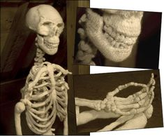 """""""Ben Cuevas has another knitted creation – an anatomically correct skeleton. Ben Cuevas, the currently featured artist at The Wassaic Project in New York also has a knitted rectum, amongst other internal body parts. Inspired by the British artist Damien Hirst and French social thinker Michel Foucault, Ben Cuevas will one day make the coolest knitting granddad in the world!"""""""