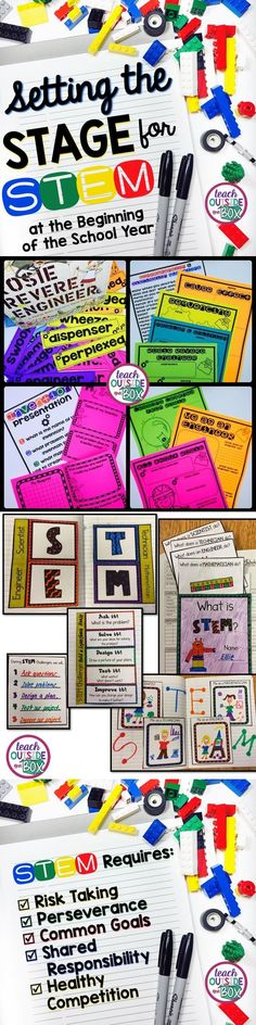 Before you try your first STEM challenge with your students, START HERE! Set your students up for success at the beginning of the school year.  STEM Challenges  STEM Activities   Back to School