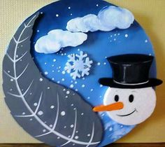 Kis Winter Art Projects, Winter Crafts For Kids, Art For Kids, Diy And Crafts, Arts And Crafts, Birthday Charts, Christmas Crafts, Christmas Decorations, Board Decoration