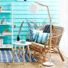 Option For Outdoor Setting: Cushion   Coastal Stripe | Kmart $10 Each