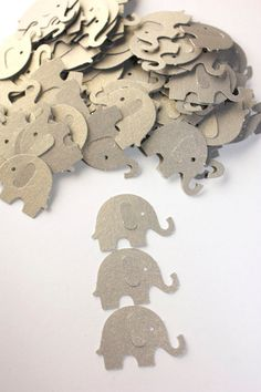 Custom wood sign baby gifts baby shower gifts wood signs 100 grey elephant confetti shimmer stock die cut elephants birthday party supplies gender neutral baby shower confetti scrapbook negle Images