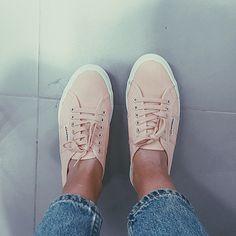 pink sneakers #superga