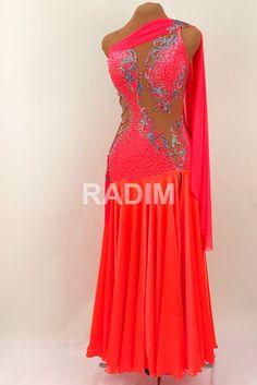 7c836cfe2631 I really like this American Smooth dance dress by Radim Lanik. The design  is visually. Latin Dance DressesDance ...