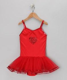 Take a look at this Red Kayla Skirted Leotard - Infant, Toddler & Girls by Fairy Dreams on #zulily today!