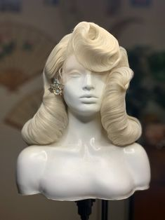 Shop — Necia's Hairstyling Vintage Hairstyles, Pretty Hairstyles, Wig Hairstyles, Fantasy Hairstyles, Hair Inspo, Hair Inspiration, Drag Wigs, Hair Sketch, Pin Up Hair