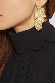Finds+ Joyas Fio gold-plated filigree earrings