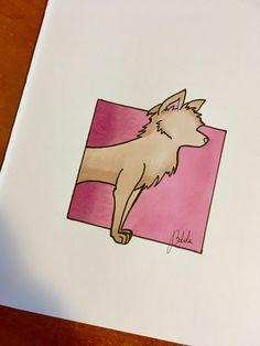 Brushmarkers art ❤️ wolf , female power , marker