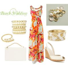 A fashion look from May 2012 featuring embellished dress, peep toe sandals and handbag purse. Browse and shop related looks.