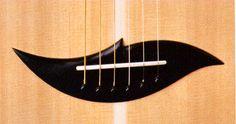 Fred Carlson guitar bridge