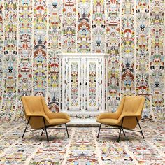 Studio Job raids its own archive to create wallpaper patterns. This one comes from his Altdeutsche Cabinet for Moooi. http://ecc.co.nz/furniture/indoor/storage/altdeutsche-cabinet