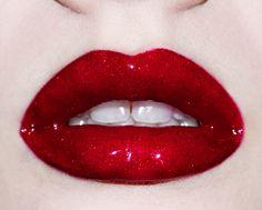 CANDY APPLE red glitter lip gloss