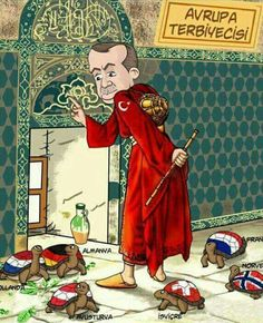 A Japanese caricaturist made an excellent example. President Erdogan is Europe Tamer. Black Eagle, The Godfather, Feeling Great, Alexandria, Disney Characters, Fictional Characters, Japanese, Disney Princess, Twitter