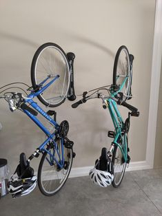 Wall Mounted 3 Bike Storage Rack Folding Steel Bicycle Rack Garage Surf Board