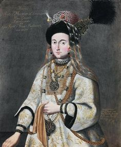 Portrait of Maria Lupu (1625-1660), daughter of Prince of Moldavia Vasily Lupu and second wife of Prince Janusz Radziwill (1612-1655), anonymous 19th century engraving in the Moscow Kremlin after original portrait from about 1645 in the Rosenborg Castle in Copenhagen, said to depict Maria Vladimirovna of Staritsa (ca. 1560-1610), wife of Magnus of Livonia, (2-3) Maria Lupu by Anonymous (Frankfurt), 1652, National Museum in Kraków. #historyofmoldavia #1640s #artinpl #17thcentury… Captain Hat, Victorian, Hats, Moscow Kremlin, Second Wife, National Museum, Frankfurt, Copenhagen, Anonymous