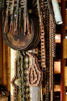 Old rusty chains