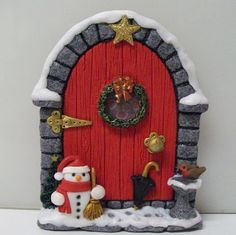 First Christmas fairy door of the year!   Flickr - Photo Sharing!