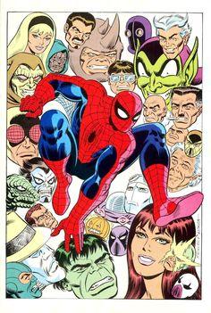 "alexhchung: ""Spider-Man by Mike Machlan & John Romita Sr. """