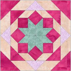 Star and Chains Quilt Template 10 inch Quilting Block Pattern Star and Chains Quilt Template 10 inch Quilting Block Pattern Quilt Square Patterns, Barn Quilt Patterns, Paper Piecing Patterns, Pattern Blocks, Square Quilt, Big Block Quilts, Star Quilt Blocks, Star Quilts, Easy Quilts