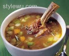 awesome LAMB SHANK AND VEGETABLE SOUP