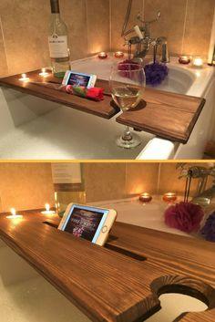 $23.90 Relaxation Wooden Bath Board, Bath Caddy, Bath Rack   home decor   Bathroom inspiration   #ad