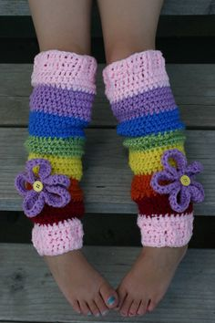 Cute Crocheted Leg Warmers by kaydeeskreations on Etsy  Need to make Emree some
