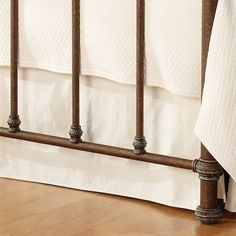 Laredo Iron Bed by Wesley Allen - Textured Charcoal Brown Finish