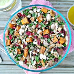 Powerhouse Kale & Quinoa Salad with Roasted Garlic Lemon Vinaigrette