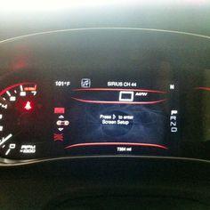 Digital speedometer and dash board in the new 2013 Dodge Dart!