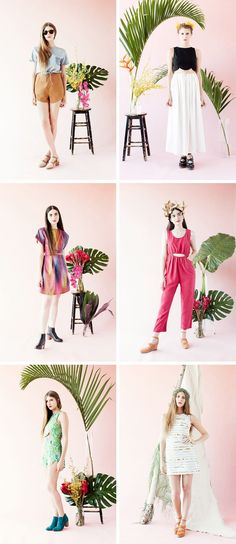 KONOC lookbook setting and styling! Palters and leaves!