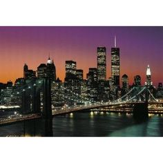 Posters: New York Poster Photo Wallpaper - Manhattan 8-Parts (145 x 100 inches)