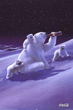 Coke Ad, you have to love the Coca-Cola bears.     ........  #coke ....... #coca-cola