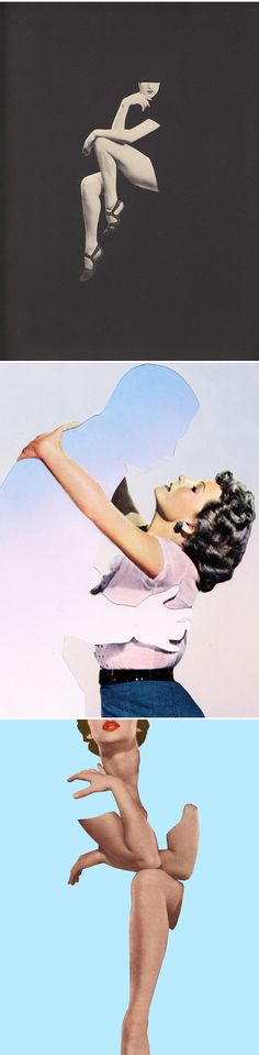 Beautiful negative space vintage-inspired art from Joe Webb