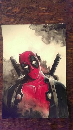 Masonry Cartel deadpool acryic painting